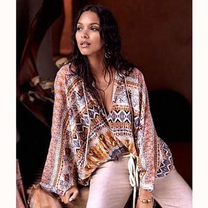 Free People Hold On Tight Gauze Pullover M/L